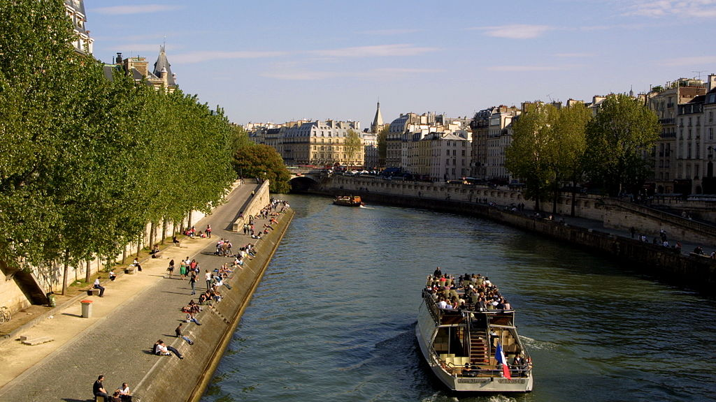 file la seine entre l 39 le de la cit et la rive gauche paris wikimedia commons. Black Bedroom Furniture Sets. Home Design Ideas