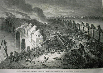Second Opium War - Palikao's bridge, on the evening of the battle, by Émile Bayard