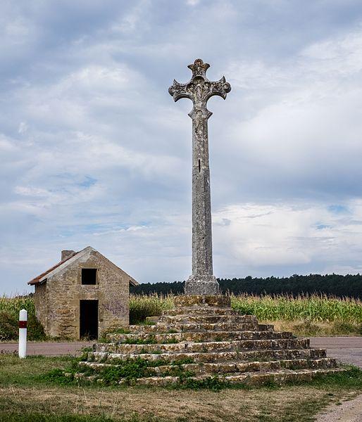 Wayside cross La croix de la Montjoie, Tharoiseau, Département Yonne, Bourgogne-Franche-Comté, France