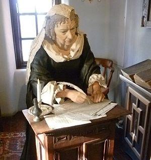 Anne Halkett - Lady Anne Halkett figure at the Abbot House, Dunfermline Fife