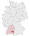 Lage des Landkreises Biberach in Deutschland grey.png