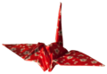 Laitche Origami Cranes - The red One - left.png