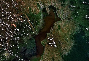 Lake Alaotra - seen from space