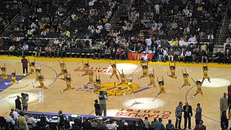 Laker Girls - The Laker Girls performing during a time out.