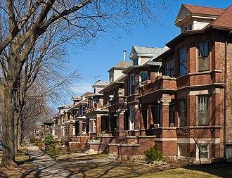 Lakewood Balmoral Historic District - Houses on Wayne Avenue in the Lakewood Balmoral Historic District