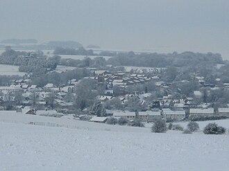 Lambourn - Lambourn under snow in February 2009