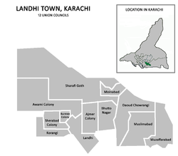 Union councils of Landhi Town
