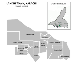 Korangi District - Image: Landhi Town Karachi