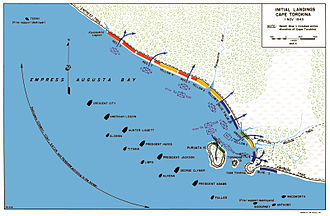 Bougainville Campaign - Landing beaches near Cape Torokina