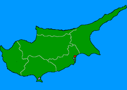 Location of Aradippou (Αραδίππου)