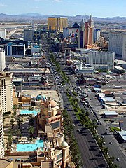 The south end of The Strip; approximately one third of the entire Strip is represented here