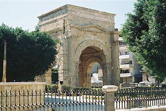 Latakia - Latakia Tetraporticus, built by Septimius Severus in 183 CE.