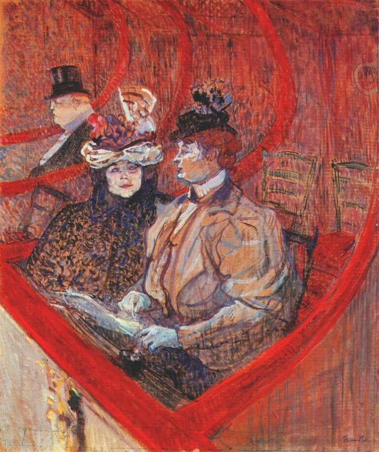 Lautrec a box at the theater 1896-7