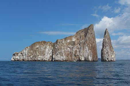 León Dormido (in English : Kicker Rock) in San Cristóbal, Galápagos, Ecuador.