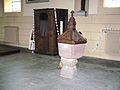 Le Baptistère à l'intérieu de l'église de Lièpvre.JPG