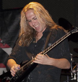 Chris Sanders (musician) - Sanders performing on guitar