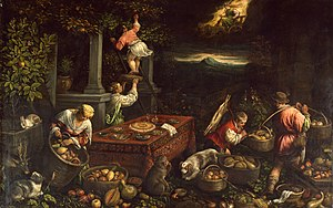 Leandro Bassano - Image: Leandro Bassano Allegory of the Element Earth Walters 372363
