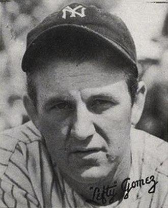 Lefty Gomez - Image: Lefty Gomez 1936