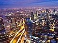 Levent business district in Istanbul at night.jpg