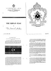 Flag of libya wikipedia the libyan flag the national anthem english language booklet issued by the ministry of information and guidance of the kingdom of libya year unknown publicscrutiny Images