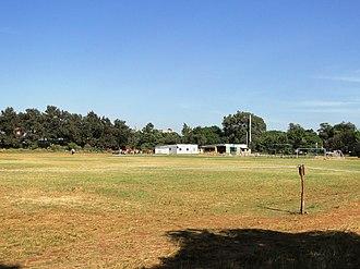 Ligi Ndogo Grounds - The club house (background) overlooking the grounds