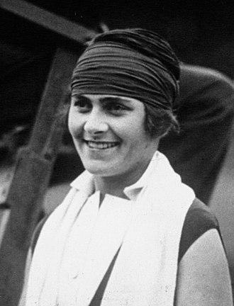 Lilí Álvarez - Lilí Álvarez at the 1926 Wimbledon Championships ladies final