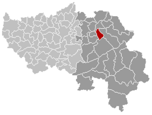 Limbourg - Image: Limbourg Liège Belgium Map