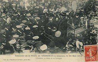 Jules Védrines - Védrines electioneering in 1911