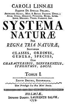 உலகைப் புரட்டிப் போட்ட 100 அறிவியல் கண்டுபிடிப்புகள் 220px-Linnaeus1758-title-page