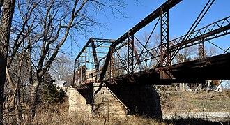 Little Walnut River Pratt Truss Bridge - Little Walnut River Pratt Truss Bridge from the river