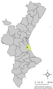 Localització d'Albalat de la Ribera respecte del País Valencià.png