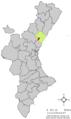 Localització de Fondeguilla respecte del País Valencià.png