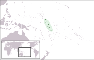 Gilbert and Ellice Islands - Location of Gilbert and Ellice Islands