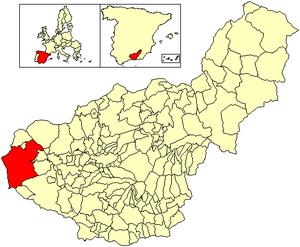 Loja, Granada - Image: Location Loja (municipality)