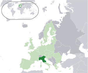 Map of the proposed state of Padania