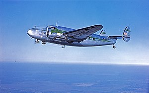 Lockheed Model 18 Lodestar - Lockheed Model 18 Lodestar over Houston, 1947 or 1948