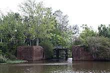 Photo of ruins of locks (Lockport, Louisiana)