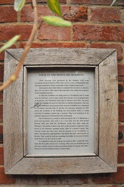 File:Lockup and Mortuary information board - Lavenham - geograph.org.uk - 1546013.jpg
