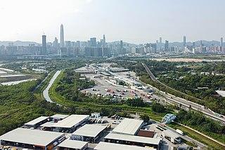 Huanggang Port Border crossing in Lok Ma Chau, Hong Kong
