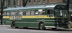 London Country (NBC) bus SMW9 (XCY 467J) 1971 AEC Swift Marshall, St Albans, May 1976.jpg