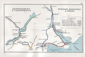 Dundalk, Newry and Greenore Railway - Image: Londonderry & Castlewellan Dundalk, Greenore & Newry RJD 123
