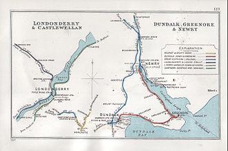 Dundalk, Newry and Greenore Railway - Image: Londonderry & Castlewellan Dundalk, Greenore & Newry RJD 123