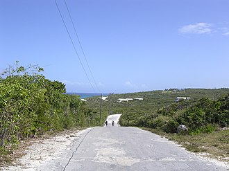 Long Island, Bahamas - Image: Long Island Road Bahamas