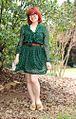 Long Sleeved Green Polka Dot Dress and Tan Loafers (16659713798).jpg