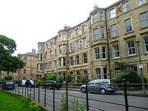 Lauriston - Houses on the south of Lauriston overlooking the Meadows