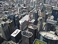 Looking Down at Buildings Directly Northwest of Willis Tower Skydeck, Chicago, Illinois (9181578794).jpg