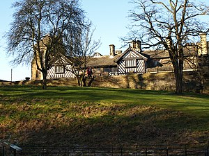 Shibden Hall - Shibden Hall from the park walk ways.