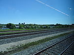 Looking out the left window on a trip from Union to Pearson, 2015 06 06 A (407) (18456999509).jpg