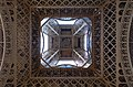 Looking up the center of the Eiffel Tower, 11 June 2017.jpg