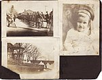 Loose page of a photograph album put together by a member of the Cole family of Deseronto, Ontario. The photographs date from 1917-1918. (4904608991).jpg